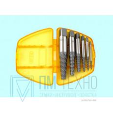 Набор экстракторов для выворачивания сорванных винтов из 6-ти штук (М3-М6) - (М18-М25) 9ХС