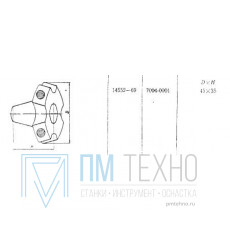 Гайка Звездообразная М8х D45х 35мм (7004-0001) ГОСТ 14552-69