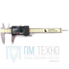 Штангенциркуль 0 - 125 ШЦЦ-I (0,01) электронный с глубиномером (КРИН) (трещины на пластиковом корпусе)