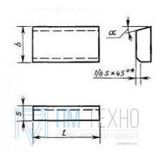 Пластина 01151 ВК8 (20х12х7х18гр) (для проходных, расточных и револьверных резцов)
