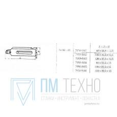 Планка 100х 22,5х 12,5 с установочным отверстием d  6мм, под паз 8мм, передвижная (7050-0162)  ГОСТ14486-69