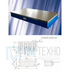 Плита магнитная плоская Х91 300х 680 (электромагнитная) сила притяжения 160 N/см кв.