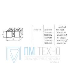 Подкладка прямоугольная 45х30х10 с 2-мя Т-образными пазами 8мм (7033-0262) ГОСТ14405-69