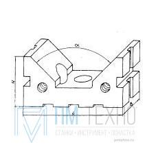 Призма опорная 120х 60х 60; 90° d 80-140мм под паз 12мм (ДСП-27) (восстановленная)