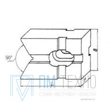 Призма подкладная  90х 45х 10; 90° d 18-50мм под паз 12мм (ДСП-26) (восстановленная)