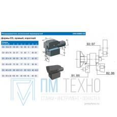 Резцедержатель аксиальный С3-40х25 правый перевернутый с хвостовиком VDI40 3425-3425 DIN69880