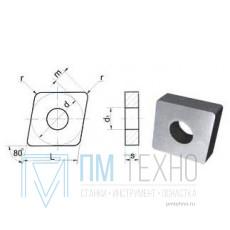 Пластина CNMA - 090304  МС318 ромбическая(80) dвн=4мм (05123) гладкая